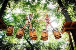 Międzybrodzie Żywieckie Atrakcja park linowy Trollandia